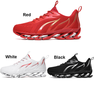 Image 3 - PULOMIES Men Spring Running Sports Shoes Lace up Fire Platform Sneakers Men Breathable Jogging Casual Shoes Large Size38 46