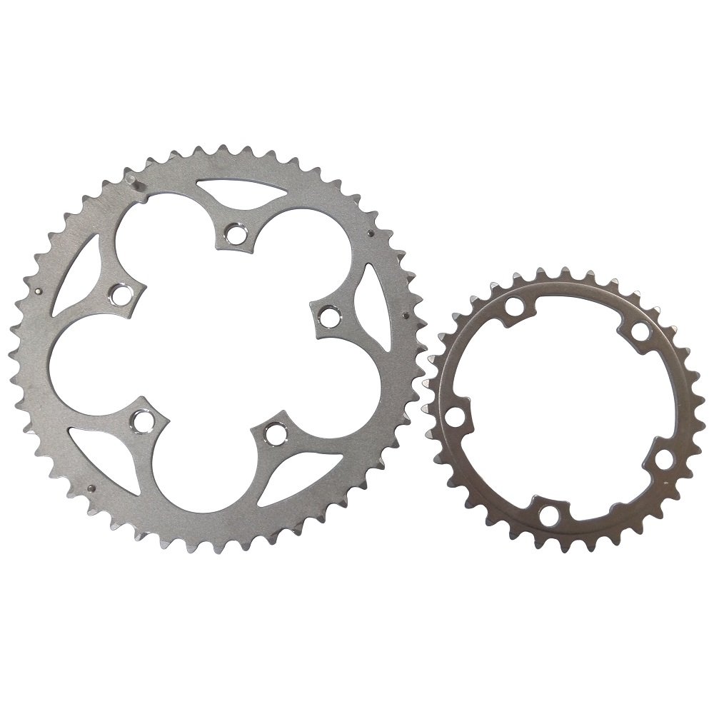 TRUYOU Chainring 110 BCD 50T 48T 46T 34T Road Bicycle Chainwheel Folding Bike Chain Wheel CNC Silvery 2*7/8/9 Speed Double Disc