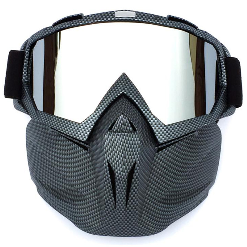 BOLLFO Cycling Helmet Goggle Mask Carbon Style Tough Guy Men Design Breathable Racing ATV Riding Eyewear Windproof Eyepiece Gogg|Cycling Eyewear| |  - title=
