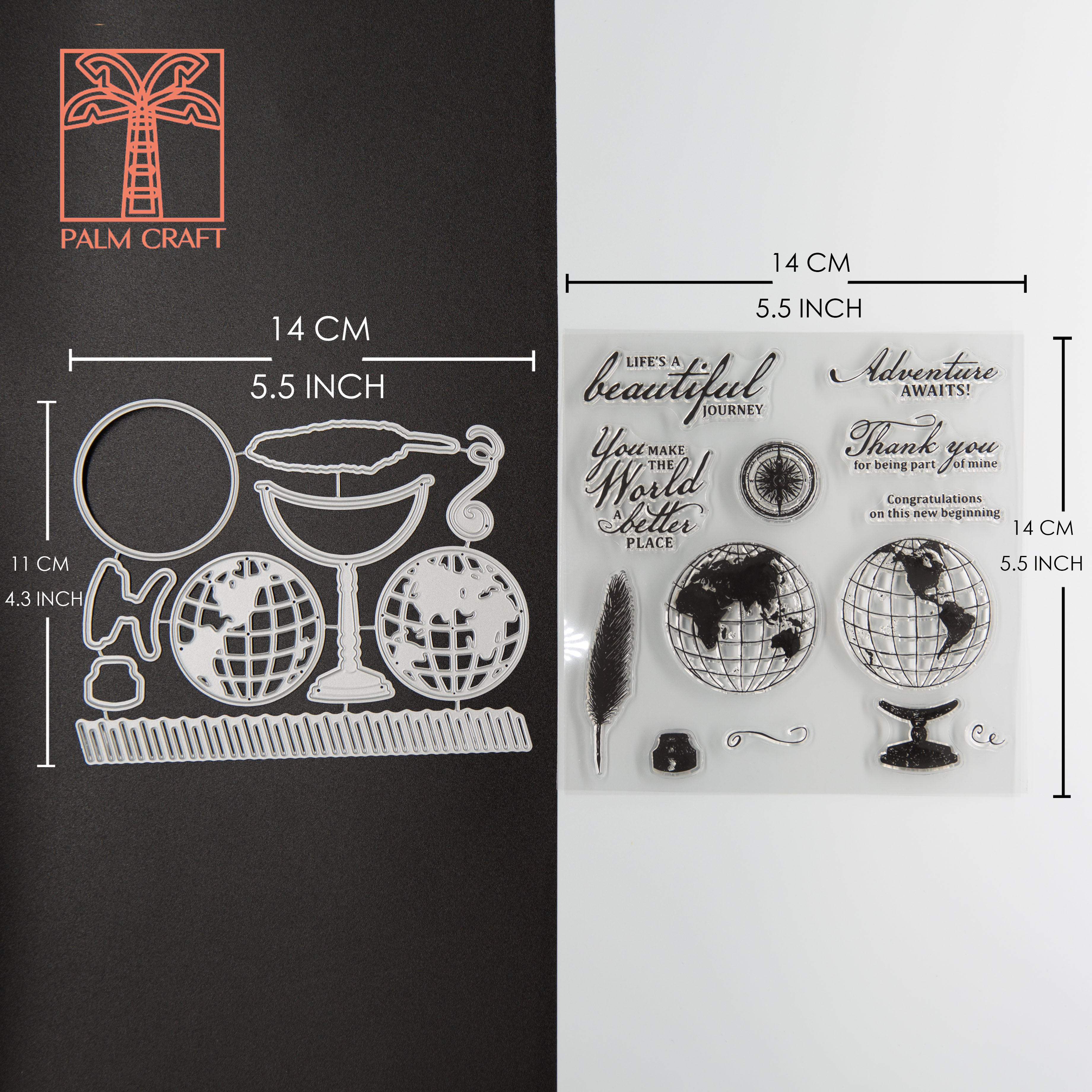 LIFE IS BEAUTIFUL Metal Cutting Dies and Stamps DIY Scrapbooking Card