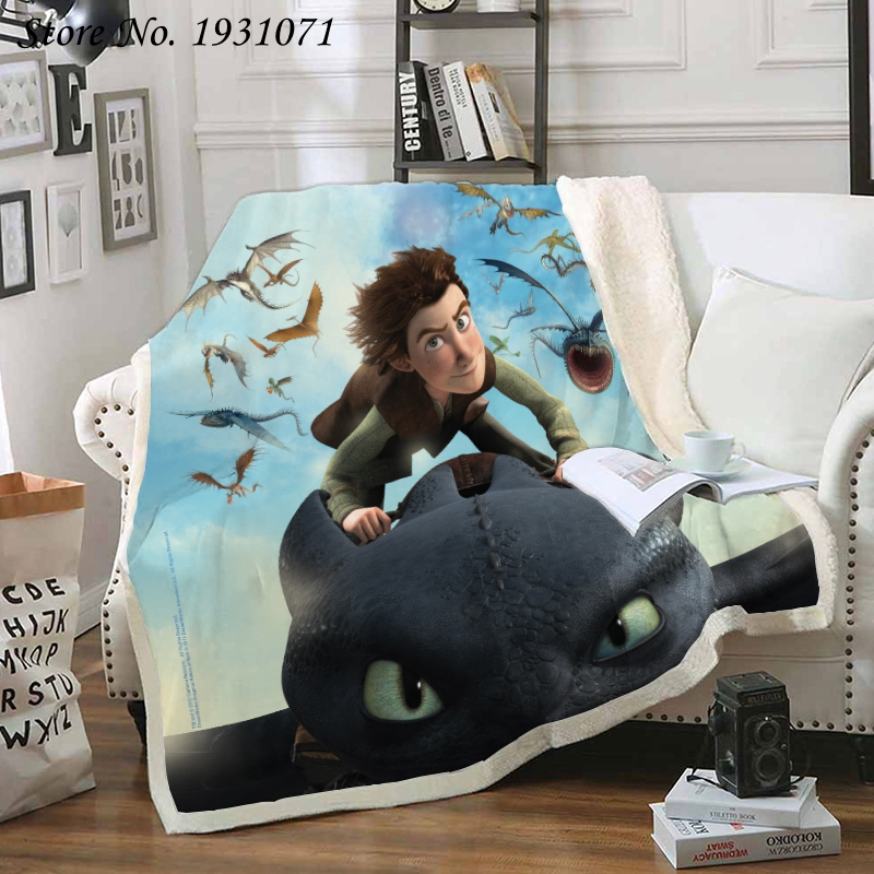 How To Train Your Dragon 3D Printed Fleece Blanket For Beds Thick Quilt Fashion Bedspread Sherpa Throw Blanket Adults Kids 04