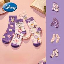 Original Disney Mickey Mouse Minnie Daisy Socks Women's Socks Funny Socks Purple Korean Style Women