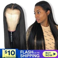 Pelucas de cabello humano frontal de encaje para mujeres negras, peluca recta de alta definición frontal bob, peluca brasileña afro corta larga de 30 pulgadas, peluca natural completa