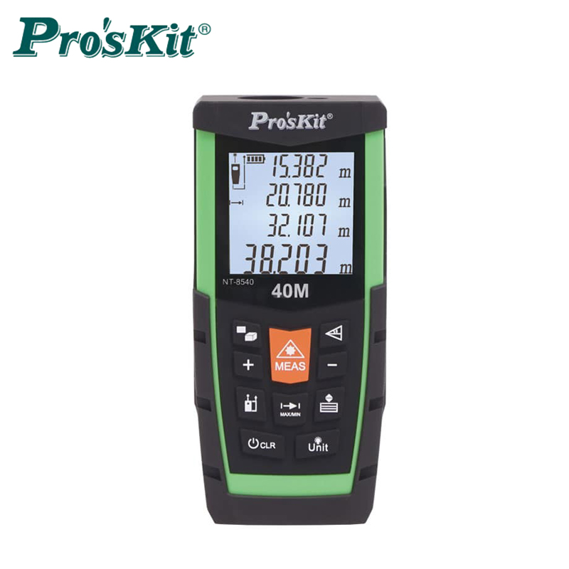 Proskit 40M 60M 80M Laser Distance meter Accuracy 1.5mm LCD backlight range finder Data storage laser level class2 trena