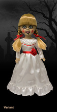 Vogue mezco original vivo morto bonecas apresenta antes da convocação annabelle terror filme 25cm figura de ação modelo brinquedos