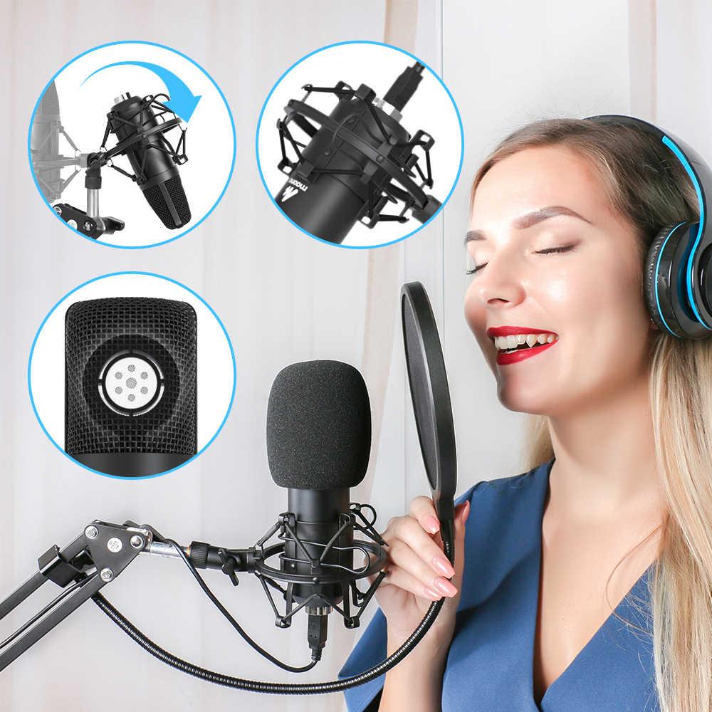 Maono AU-A04 Usb Microfoon Kit 192 Khz/24BIT Professionele Podcast Condensator Microfoon Voor Pc Karaoke Youtube Studio Opname Mikrofon