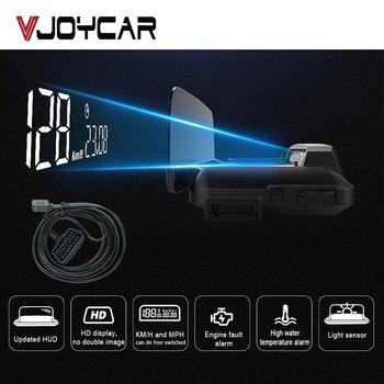 Китай Лучший OBD2 HUD зеркало автомобиля Head Up дисплей цифровой скорость проектор охранной сигнализации температура воды об/мин турбо давление ...