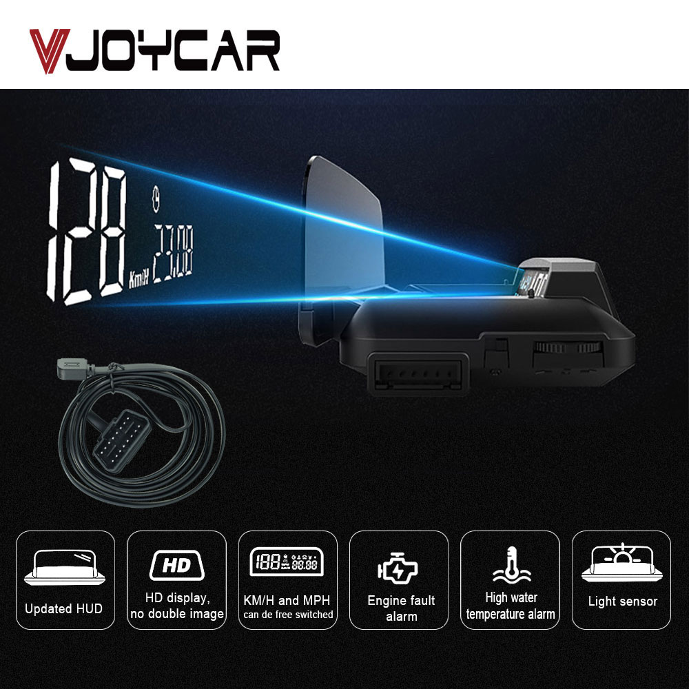 China Best OBD2 HUD Mirror Car Head Up Display Digital Speed Projector Security Alarm Water Temp RPM Turbo Pressure Updated Ver.