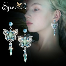 The SPECIAL Brand euramerican s925 silver needle earrings fresh forest romantic earring clip on for women  S2361E