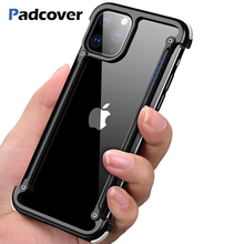 PADCOVER Original Airbag Metal Luxury Case for IPhone 11 pro Iphone max Personality Shell Bumper Cover