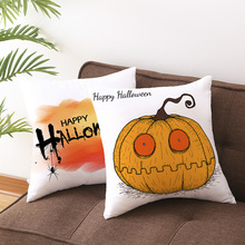 RULDGEE Halloween Pumpkin Pillow Case Trick or Treat Creative Decorative Pillowcase Halloween Printing Throw Pillow Case