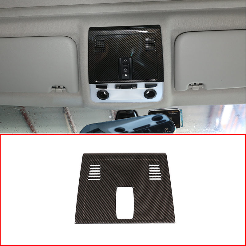For <font><b>BMW</b></font> <font><b>E90</b></font> 3 Series 2005-2012 <font><b>Carbon</b></font> <font><b>Fiber</b></font> ABS Car Front Row Roof Reading Lamp Decoration Cover Trim Accessories image