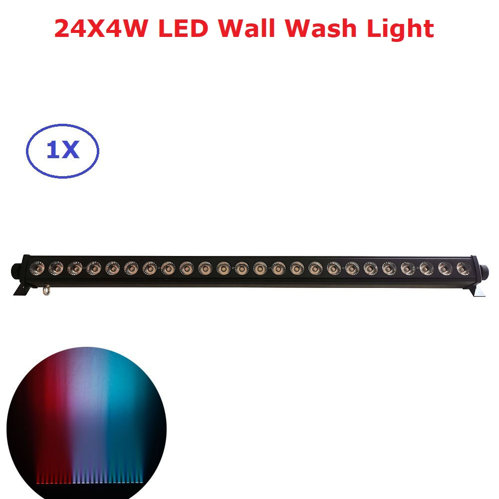 24X4W LED RGBW 4IN1 LED Wall Wash Light  6/9/16/30/58 Channels DMX512 LED Bar Wash Stage Light Music Dj Disco Party Wedding KTV