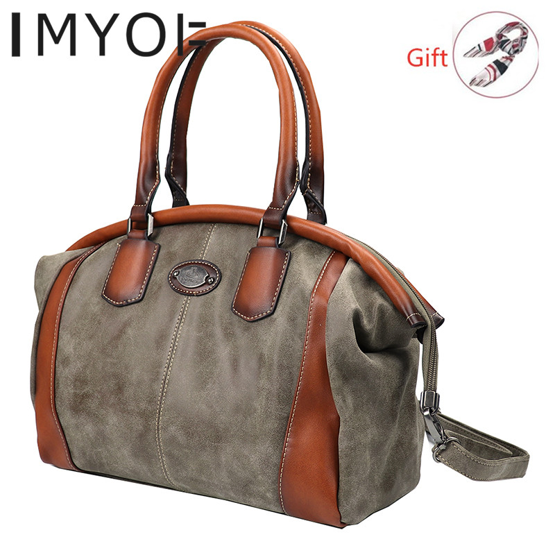 IMYOK New Genuine Leather Bags Women Luxury Handbags Ladies Designer Handbag Large Capacity Single Shoulder Bag Bolsa Feminina