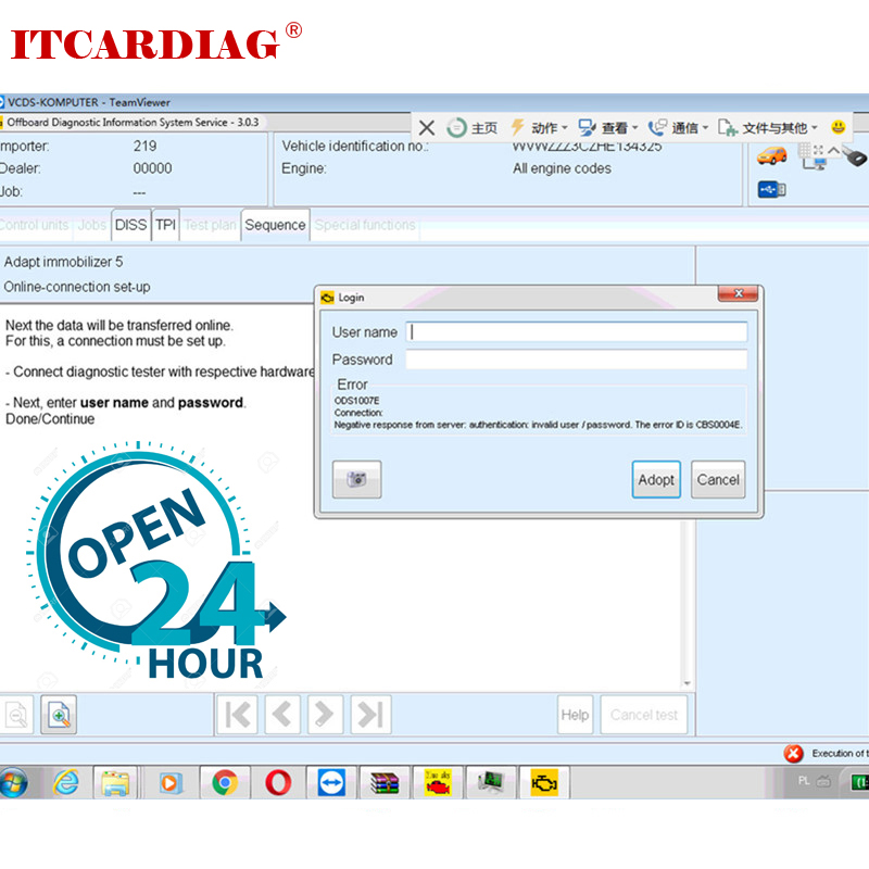 ODIS Online Coding Account Login One Time Service For Audi ODIS 4.3.3 ODIS 4.4.10 Diagnostic Interface For 5054a 6154