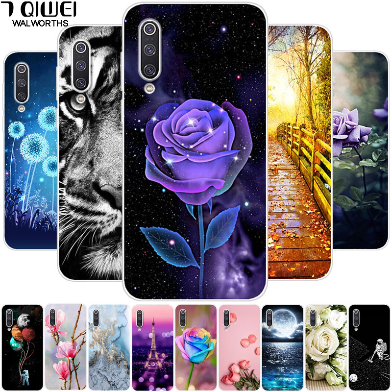 For <font><b>Xiaomi</b></font> <font><b>mi</b></font> <font><b>a3</b></font> case soft silicone tpu phone case Back cover For <font><b>Xiaomi</b></font> mia3 Cases flower <font><b>FUNDA</b></font> for <font><b>xiaomi</b></font> <font><b>a3</b></font> a 3 MiA3 Shell image