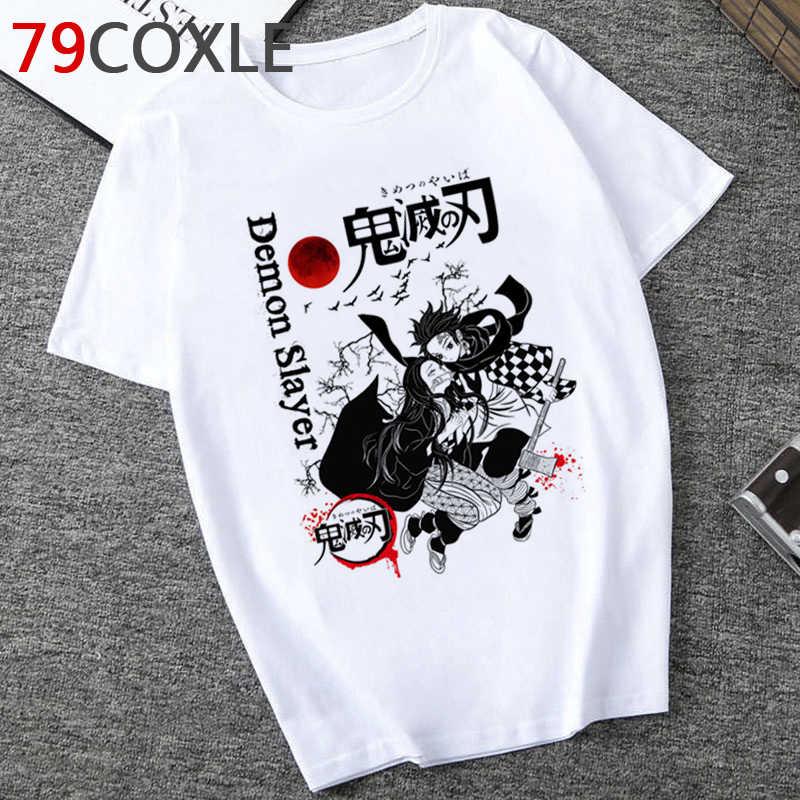 Hot Demone Slayer T Degli Uomini Freddi/Donne Divertente Del Fumetto Graphic T-Shirt Kimetsu No Yaiba Anime Maglietta Hip Hop top Magliette Maschio/Femmina