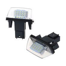 1 Pair Automobiles Signal Lamp 18 LED License Number Plate Lights Lamp For Peugeot 206 207 307 308 406 Citroen C3/C4/C5/C6 все цены