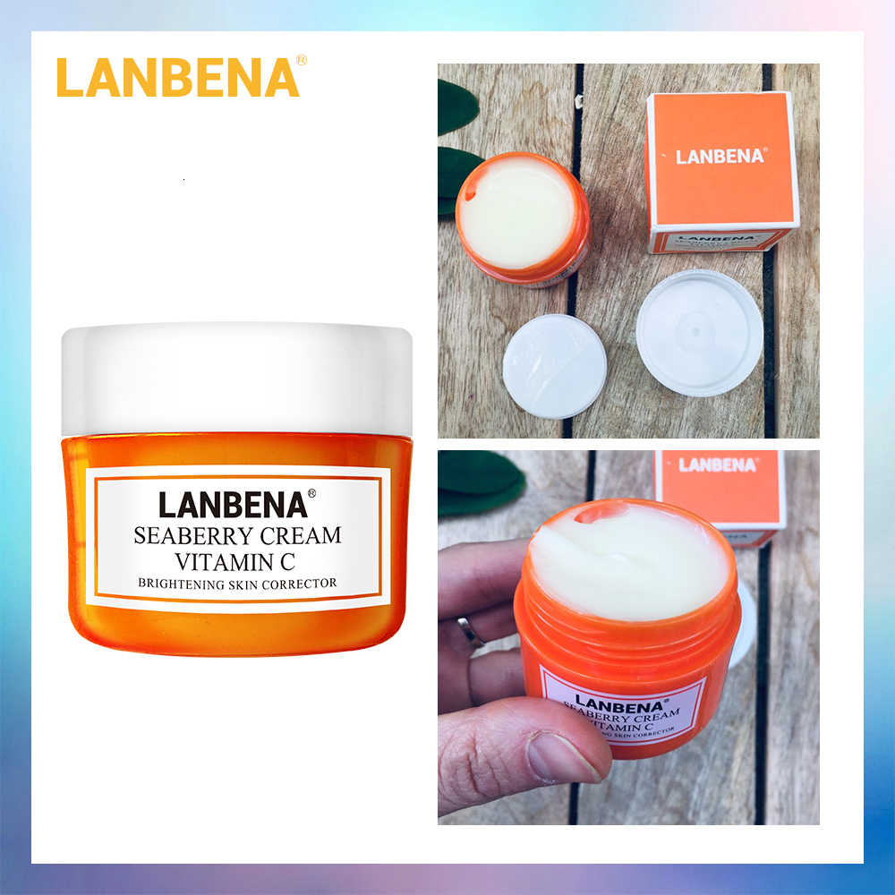 นาฬิกา LANBENA Vitamin C Facial ครีม Whitening Brighten Skin Peptide Moisturize Anti-Wrinkle Anti-Aging Lifting Firming Face Care 40g