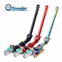 ESPEEDER Universal Aluminum Vertical Hydraulic Drift Handbrake Racing Parking Lever Gear E Brake Drift Rally Lever Hand Brake