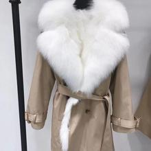 Women Real Fur Parka With Big Fox Fur Co