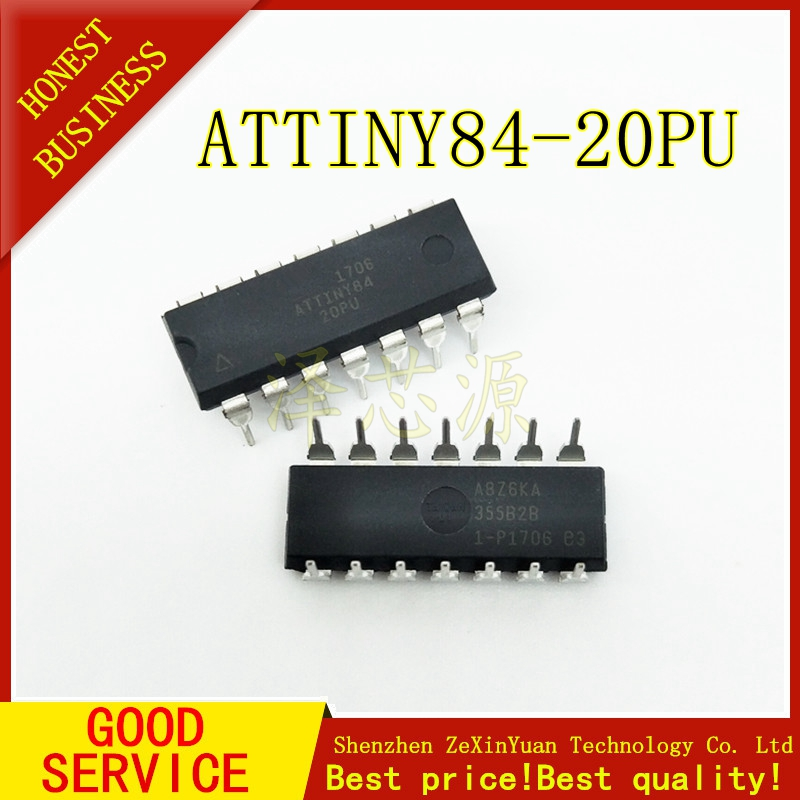 ATTINY84-20PU ATTINY84 MCU 8BIT 8KB FLASH 14-DIP IC