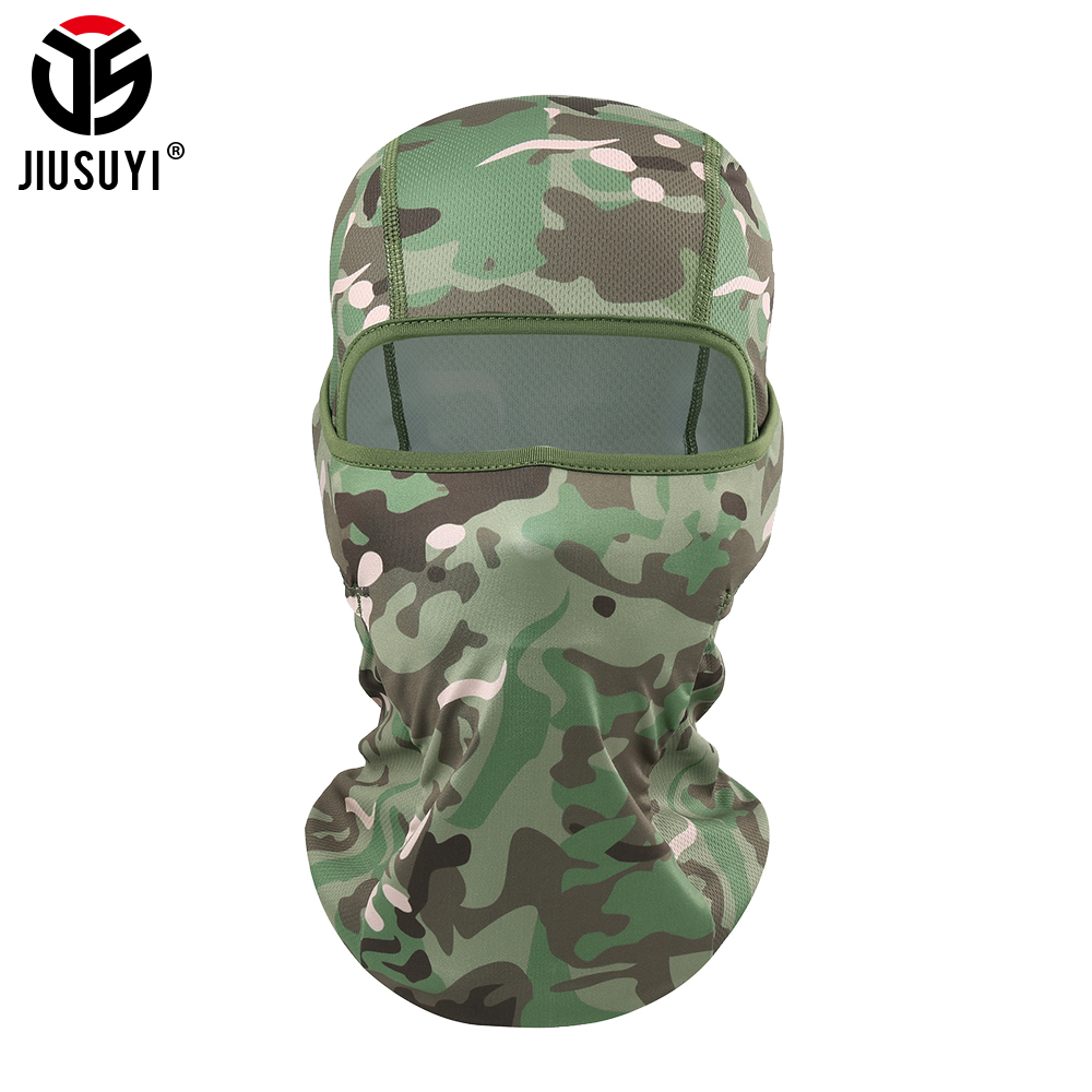 Tactical Balaclava Neck Camo Military Anti-Mosquito Face Mask Ski Airsoft Paintball Bicycle Helmet Liner Shield Men Women Cap