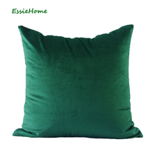 Luxary Green Moss Emerald Velvet  Forest Cushion Cover Pillow Case Lumber Hunter