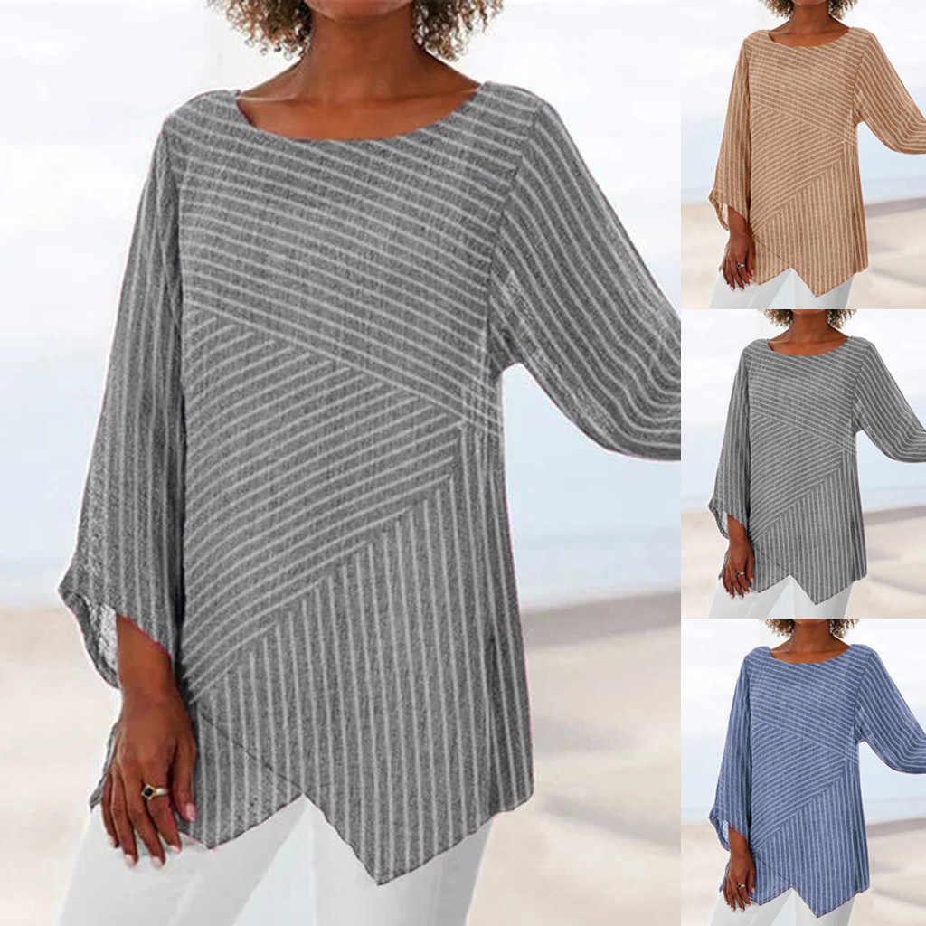 ฤดูใบไม้ร่วงใหม่แฟชั่นผู้หญิงพลัสขนาดแขนยาวผ้าลินินเสื้อเสื้อฤดูร้อนเสื้อ рубашка женская Z4