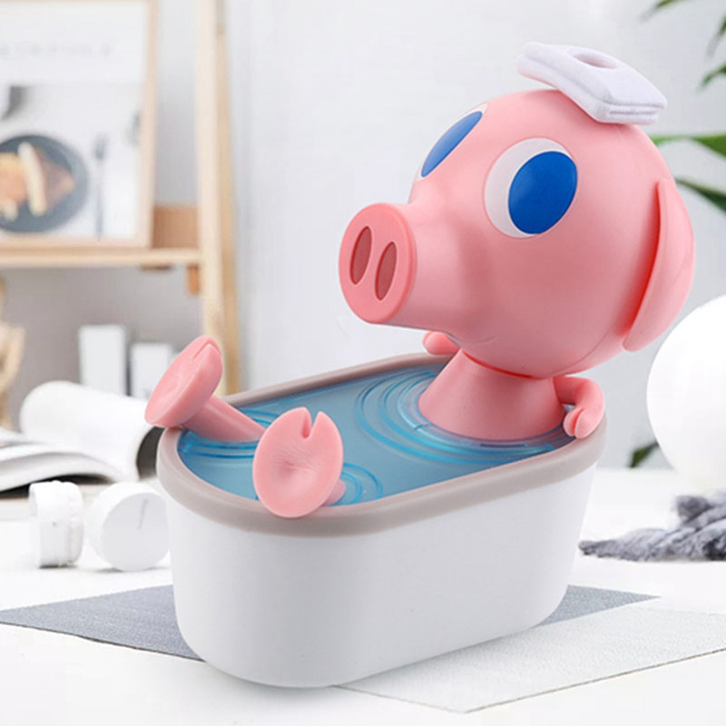 Mini USB Cute Bathing Pig Air Humidifier Silent Ultrasonic Diffuser Mist Maker for Home Office Car|Humidifiers| |  - title=