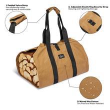 New Supersized Canvas Firewood Wood Carrier bag Log Camping Outdoor Holder Carry storage bag Wooden Canvas Bag