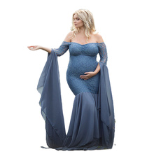 Maternity Photography Props Maxi Dress Mermaid Photo Pregnant Women