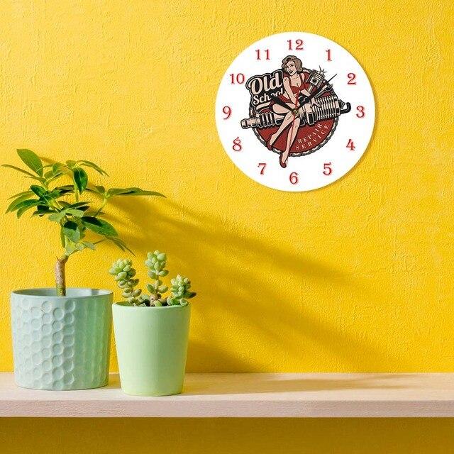 Garage Retro Spark Plug Wall Clock 10