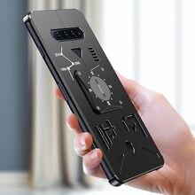 Original metal de luxo nova thor armadura resistente metal alumínio caso do telefone para xiaomi tubarão preto 4 3s 2 pro casos capa