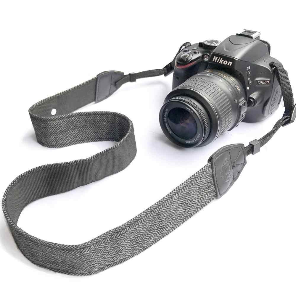 Foleto العالمي قابل للتعديل كاميرا أشرطة أكتاف وعنق القطن حزام جلد لنيكون كانون كاميرات DSLR حزام الملحقات جزء