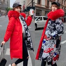 Wear On Both Sides Parkas Women Winter Coat 2019 Cool Warm  Overcoat Big Pocket Long Jacket Loose Thicken