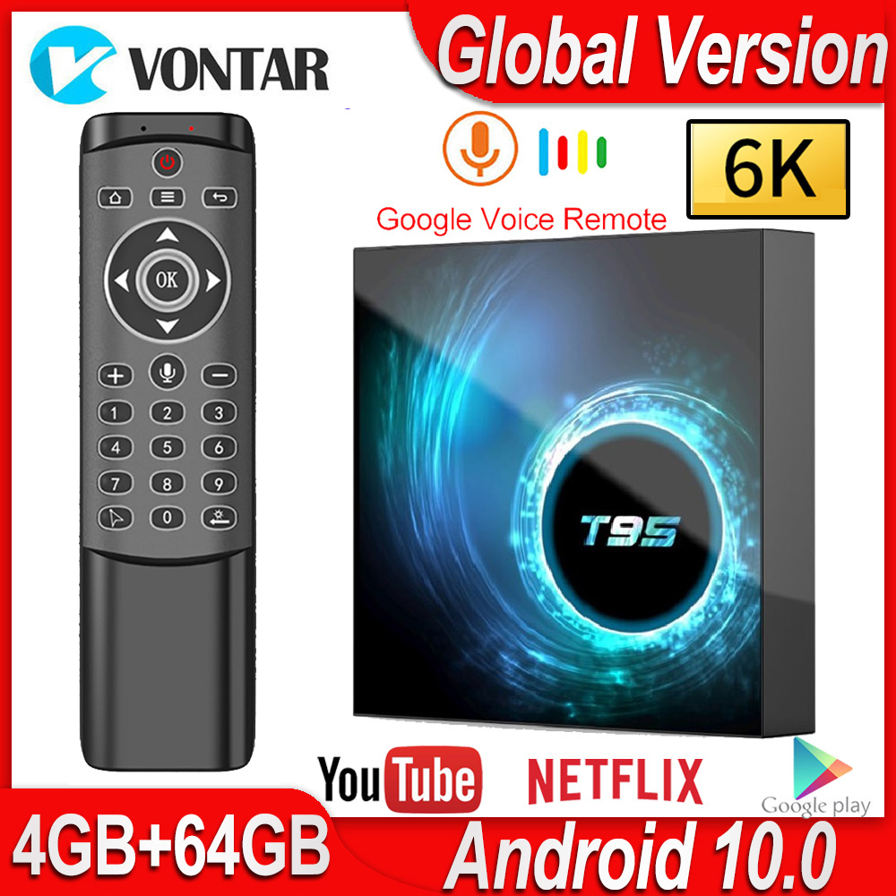 T95 Android 10 Smart TV Box 4GB RAM 32GB 64GB 16GB Android TV Box Allwinner H616 Quad Core H.265 4K Media Player Pk H96 T95 Max