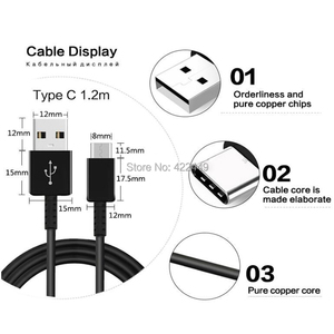Image 5 - 100pcs 100% Genuine Original USB Type C Cable 1.2M 2A FAST Charger Cable for Samsung Galaxy S8 S9 S10 note 7 LG G5 Xiaomi huawei