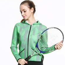 Aidenkid autumn and winter new women's hooded zipper sports jacket breathable sweat-absorbent running jacket long sleeve