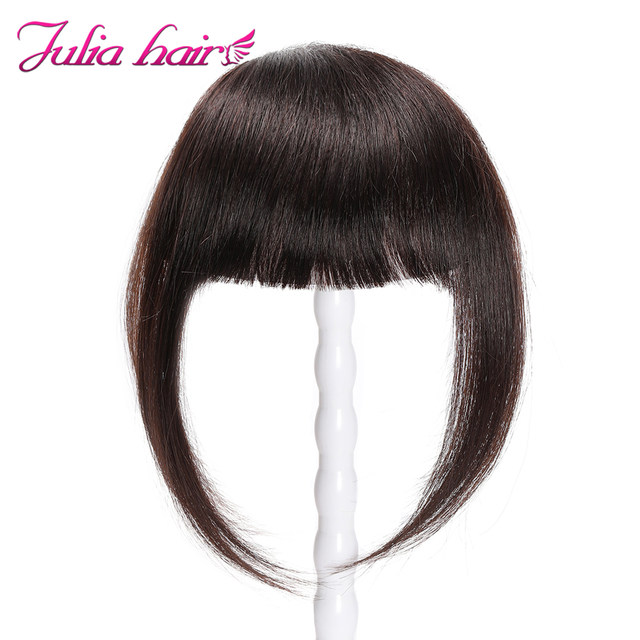 Ali Julia Air Bangs For Women Clip In Hair Extensions Brazilian Human Hair Bangs Remy Replacement Fringe Hairpiece (8)