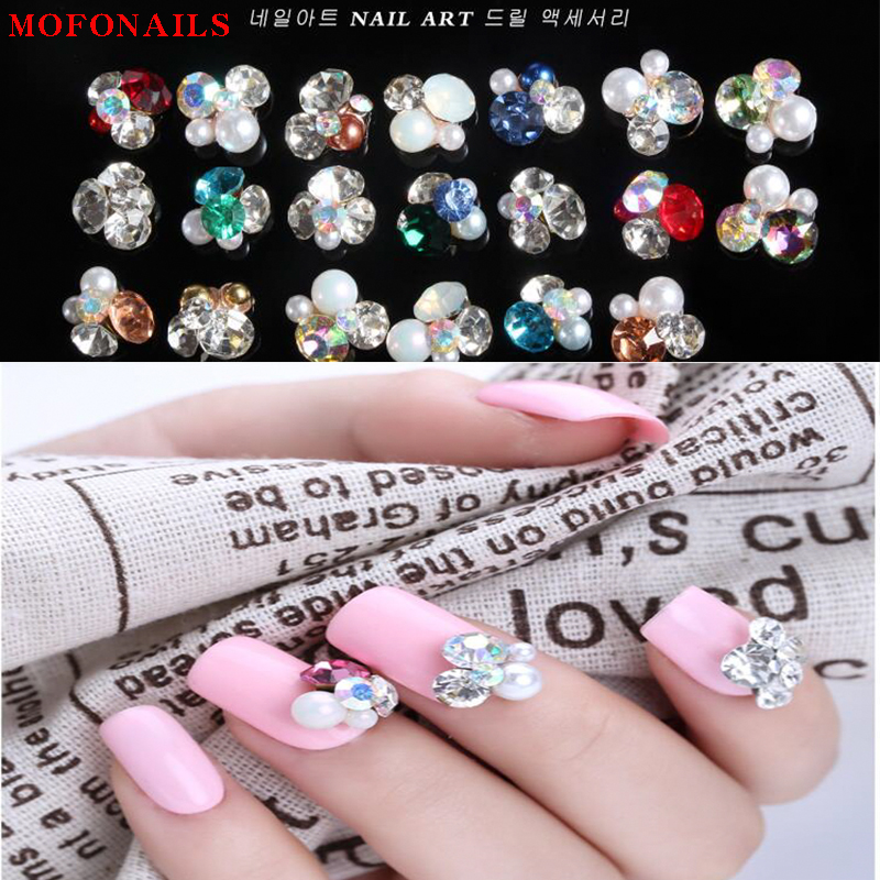 Pile crystal nails