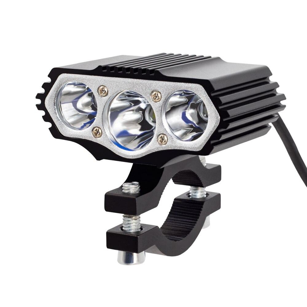Onature Powerful Electric Bike Light 1000 Lumens 12-72V Input E Bike Headlight Aluminum Housing 3xT6 LED Head Light For EBikes