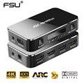 FSU HDMI переключатель 2 0 4K HDMI Разветвитель переключатель 4 в 1 выход HDMI переключатель аудио экстрактор ARC & IR контроль для 320d PS3 PS4 HDTV