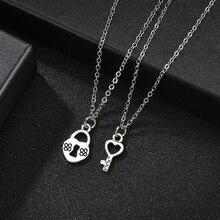 Moda nuevo mejor amigo pareja collar Vintage calor colgante BFF Collar para mujeres Cadena de plata regalo joyería de amistad