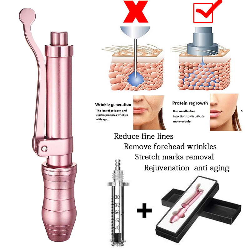 0.3ml não invasivo nebulizador hialurônico caneta injector ácido lábios estabilizador agulha-livre injeção hyaluron caneta ácido soro arma