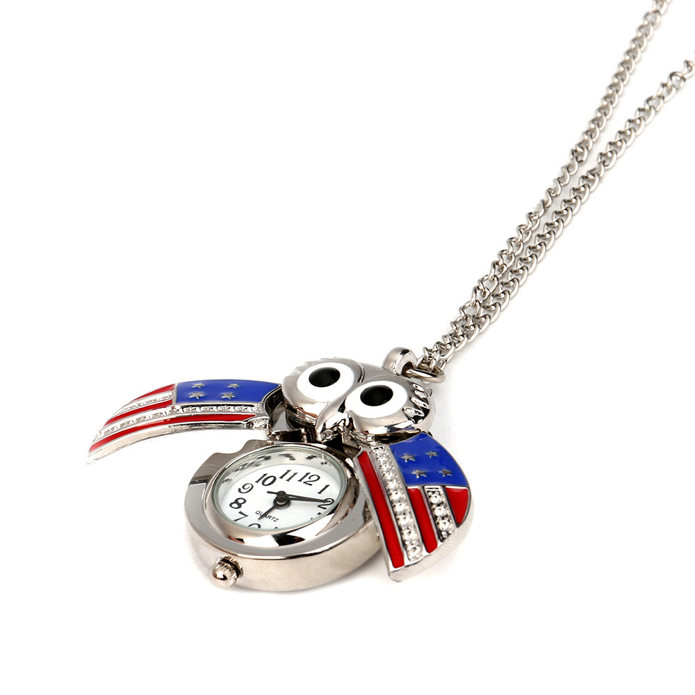 H2fef941fc7d94d46aee7fd9015ec171ct - Pocket Watch Vintage Style Retro Slide Owl Pendant Long Necklace Analog Pocket Watch Gift Bundy Party Watch gift