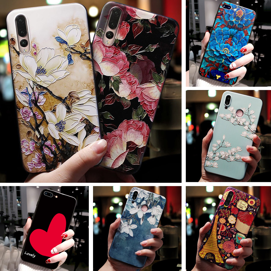 For <font><b>Huawei</b></font> <font><b>Honor</b></font> 5C <font><b>Case</b></font> 3D Emboss Flower Phone <font><b>Case</b></font> TPU <font><b>Silicon</b></font> Cover For <font><b>Huawei</b></font> <font><b>Honor</b></font> 6A 6X <font><b>7x</b></font> 6C PRO P Smart Plus Black TPU image