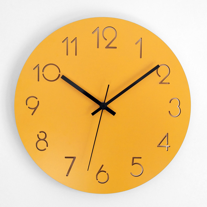 Large Nordic Wall Clock Bedroom Modern Unique Stylish Mute Wall Clocks Thick Watches For Kitchen Wall Home Decor Watch II50BGZ