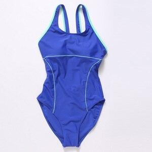 Image 5 - Riseado 여성을위한 새로운 2019 스포츠 수영복 경쟁 수영복 원피스 수영복 솔리드 레이서 백 수영복