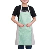 2019 w nowym stylu koreański styl Wipable Hand fartuch jeden rozmiar Condole Belt kuchnia wodoodporna sznurowane fartuch bez rękawów w Zarękawki od Dom i ogród na